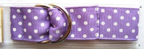Speidel 14-24mm Purple Polka Dot Ribbon One Piece Slip Thru Band