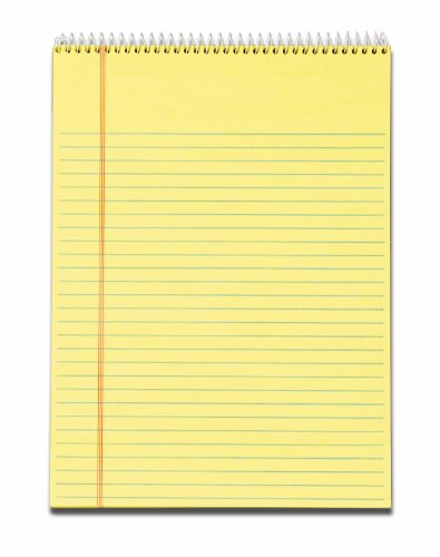 TOPS Docket Writing Tablet, Top Wirebound, 8-1/2 x 11-3/4 Inches,