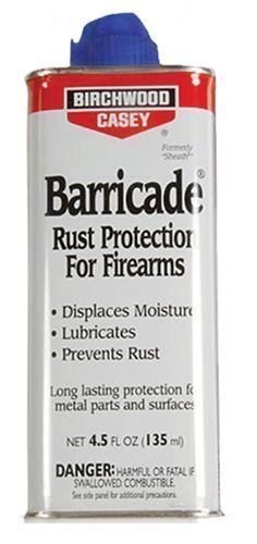 Barricade Birchwood Casey BARRICADE RUST PROTECTION 4.5oz Metal Gun Oil Water Repellent by Barricade