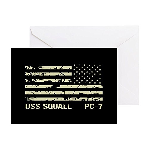 (CafePress - USS Squall - Greeting Card, Note Card, Birthday Card, Blank Inside Matte)