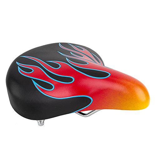 (Sunlite Crusier Bicycle Saddle, Web Spring Flame, Black With Flames !)