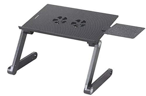 Laptop Table Aluminum Bed Computer Table Outdoor Barbecue Picnic Folding Table Outdoor Barbecue Picnic Gift,Black-OneSize by GHGJU