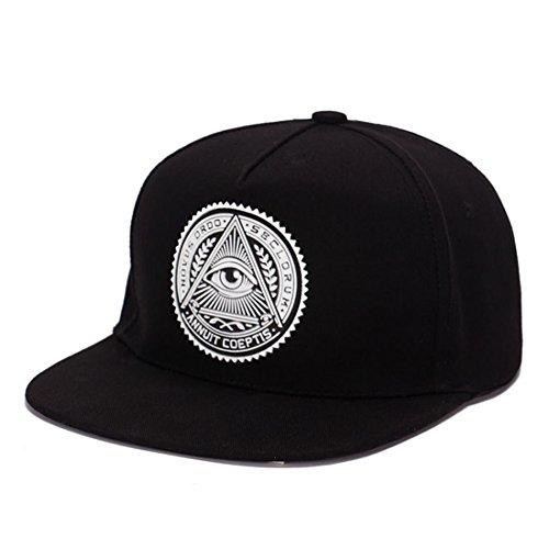 5e283d809e1c5 King Star Men Solid Flat Bill Hip Hop Snapback Baseball Cap (Eye-Black)