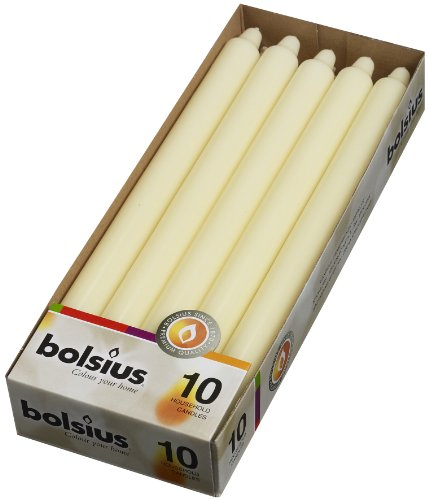 Bolsius Household Candles Box 10, Ivory