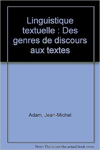 Linguistique Textuelle Fac Linguistique Amazones Jean