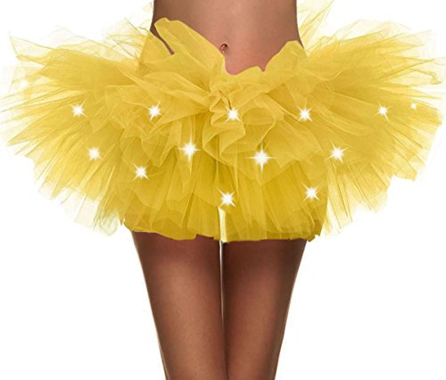 (Simplicity Women LED Light Up Tutu Skirt for Party Stage Costume)