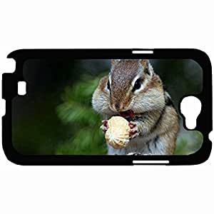 New Style Customized Back Cover Case For Samsung Galaxy Note 2 Hardshell Case, Back Cover Design Chipmunk Personalized Unique Case For Samsung Note 2