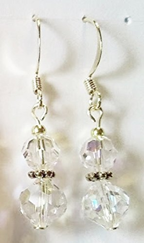 Aurora Borealis Vintage Round Crystal Earrings