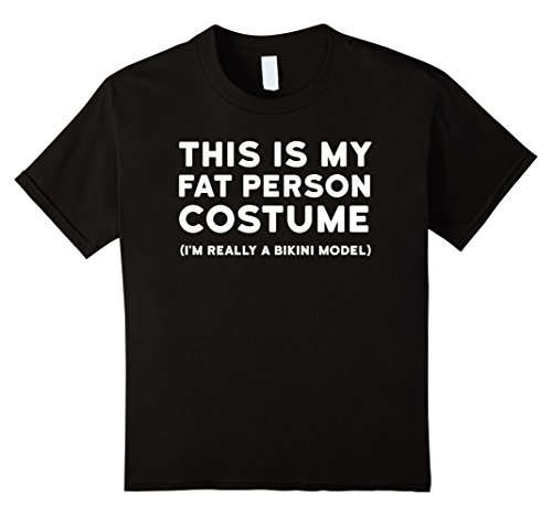 Kids Funny Halloween Costume Shirt - Fat Person Bikini Model Tee 4 (Funny Four Person Halloween Costumes)