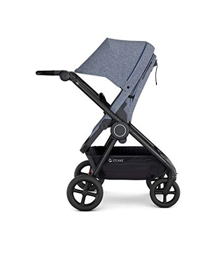 Stokke Beat Lightweight Compact Stroller for Baby and Toddler, Blue Mélange