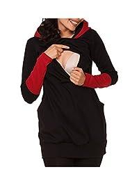 Babe Maps Womens Maternity Nursing Hoodie Top Sweatshirt Kangaroo Pocket