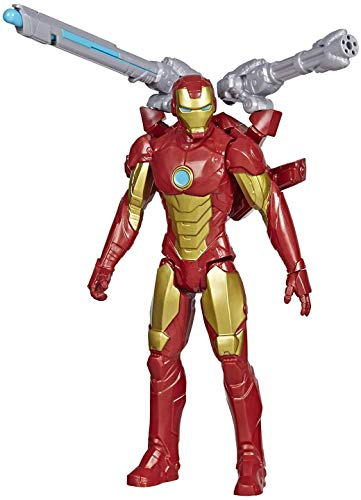 Avengers Marvel Titan Hero Series Blast Gear Iron Man Action Figure, 12-Inch Toy, with Launcher, 2 Accessories and Projectile, Ages 4 and Up reviews