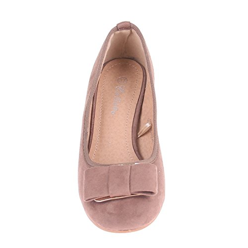CATISA-bal4_xh973-Bailarinas para mujer Beige - marrón