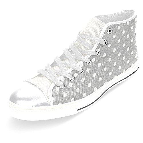 Scarpe Da Donna Casual High Top Classico Casual Canvas Scarpe Da Ginnastica Stringate Sneakers Grigio
