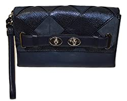 Coach Blake Clutch in Patchwork Leather (Mahogany)
