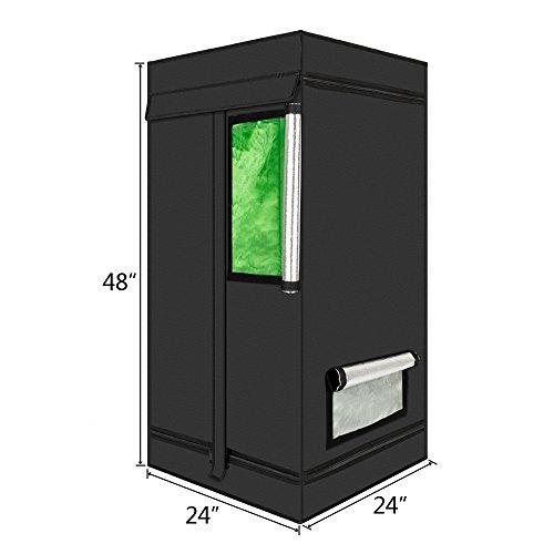 Oshion 2x2x4 Feet Small Indoor Mylar Hydroponics Grow Tent Room (24