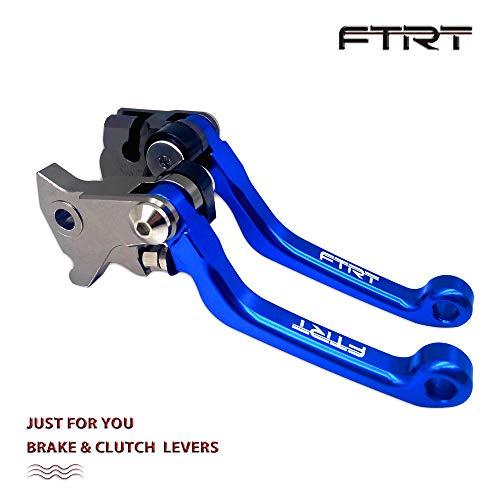 FTRT Pivot Dirt bike Brake Clutch Levers for Yamaha YZ125 YZ250 2008 2009 2010 2011 2012 2013 2014/ YZ250F 2007-2008/ YZ426F YZ450F 2008, Blue