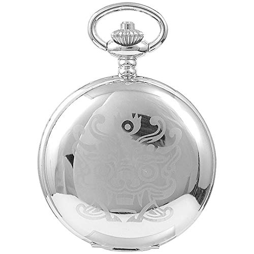 Classic Goblin Quartz Pocket Watch with Chain Made in Korea