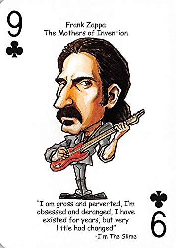 Frank Zappa trading card (The Mothers of Invention) 2019 Hero Decks Tribute to Rock #9