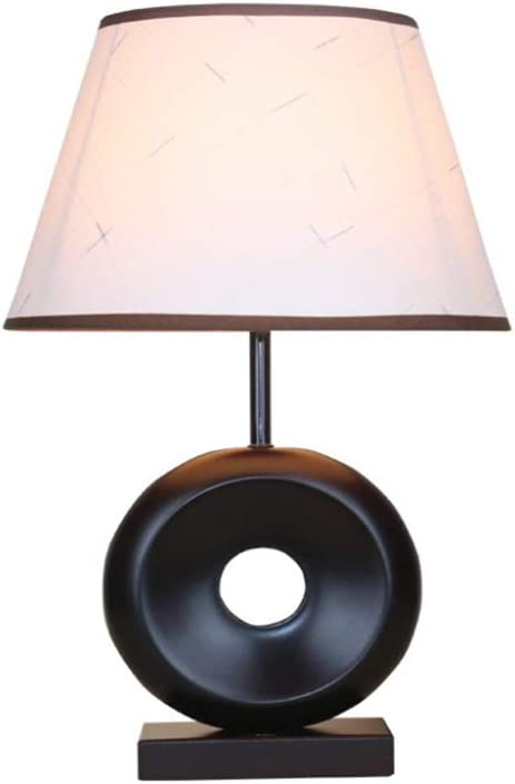 QEQ Lámpara de Mesa Base de Madera Modelo clásico Lámpara de ...