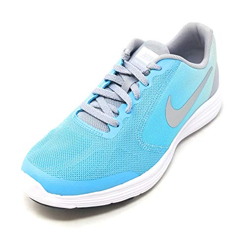Nike Kids' Revolution 3 (GS) Running Shoes Polarized Blue/Metallic Silver 4.5 Y US by Nike (Image #3)