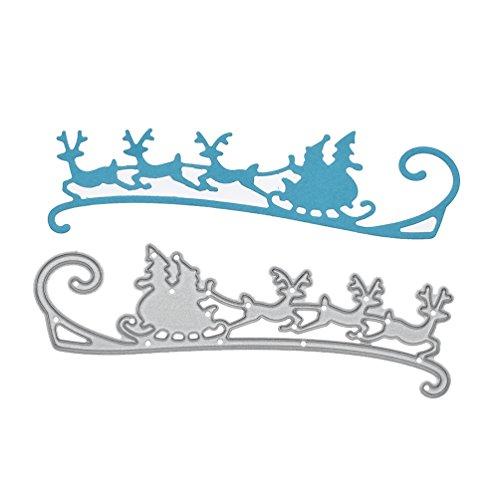 Towashine Santa Sleigh Metal Die Cutting Dies Stencil for Christmas Card Making DIY Scrapbooking Embossing Album Paper Craft