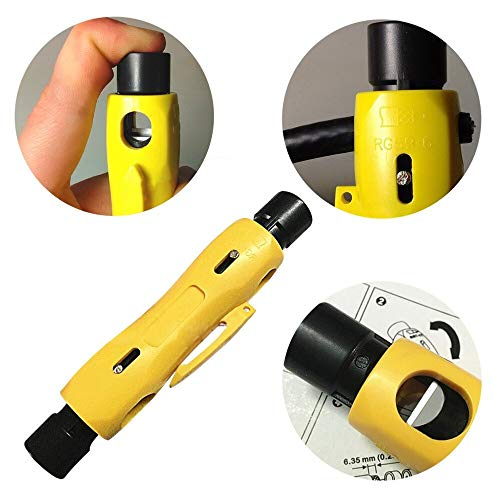 - Digital Optic Coaxial Rca - Industry Stripping Multi Functional Coaxial Cable Television Stripper Steel Yellow - Coaxial Tool Nickel Stripper Stripper Timer Steel Nickel Wire Tool Cable Plug