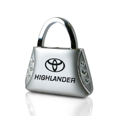 Ag Crystal - Toyota Highlander Clear Crystals Purse Shape Key Chain