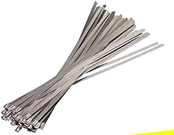 """20 pcs Stainless Steel 16/"""" Metal Cable Wire Zip Tie Wrap Self-Locking 16 inch"""