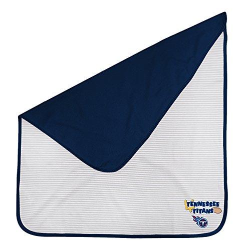 Outerstuff NFL Newborn Lil Kicker Blanket, Tennessee Titans, Dark Navy, 1 Size