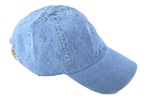 Low Profile Style Cap (NH Men's Polo Style Adjustable Unstructured Low-profile Baseball Cap Denim)
