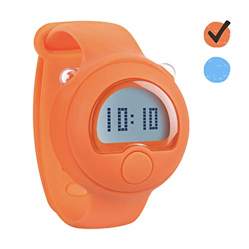 PottyWin Potty Training Watch – Toilet Training Timer with Reminder Music & Light – Water Resistant Potty Trainer for Boys, Girls, Toddlers – Easy to Wear and Set-Up (Orange)