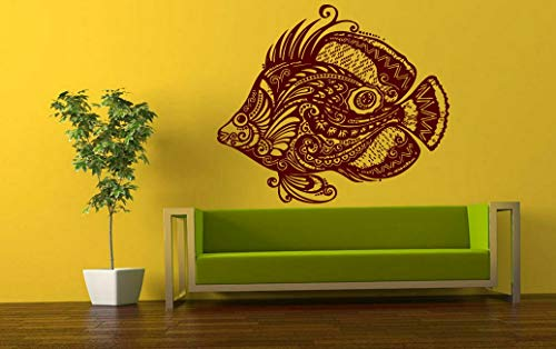 Tomikko Wall Vinyl Sticker Decals Mural Room Design Art Floral Fish Sea Decor bo735 | Model DCR - 898