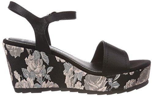 arrière Noir Black Sandales Marco Bride Multi Tozzi 28392 Femme 0znBwqYI6