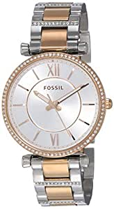 FOSSIL Women's ES4342 Year-Round Analog-Digital Quartz Silver Band Watch