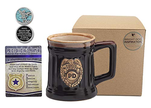 - Police Officer Gift for Policeman | Policeman Mug, Prayer Card and Guardian Angel Pocket Token | Inspirational Keepsakes in Bundle of 3 Items