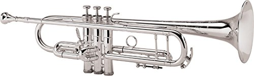King 2055 Silver Flair Series Bb Trumpet 2055T Silver 1st Valve Thumb Trigger by KING