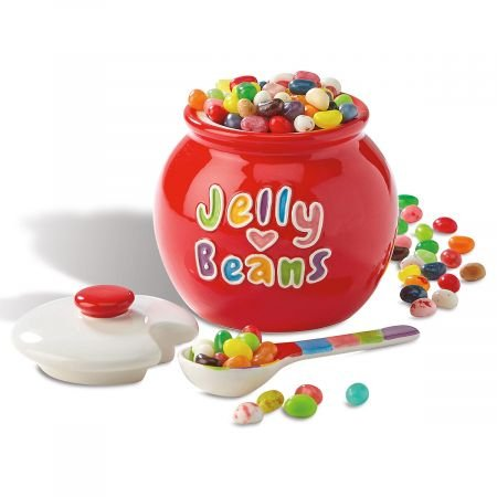 "Jelly Bean Jar - 5"" H and 5"" diameter Potbelly Jar"