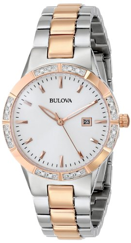 Bulova Women's 98R169 Two-Tone Watch with Diamond-Accented (Movement Two Tone Diamond)