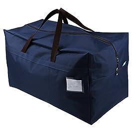 100L Festival Decoration Items Storage Organizer Bags, Go to College Storage Bag, Traveling Storage Bag,Blue