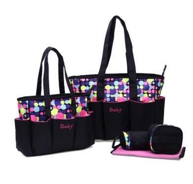 Mufly Set 5 Bolso para Carrito de Bebé Grande,Bag, Elegante Bolso Cambiador para