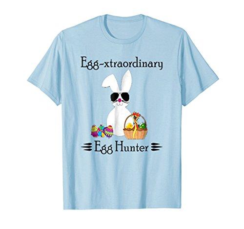 - Eggspert Egg Hunter Easter TShirt Boy Girl Cool Bunny Pastel