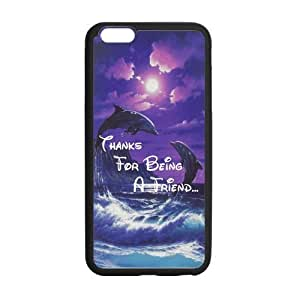 LeonardCustom Durable Protective Hard TPU Rubber Fitted Cover Case for iPhone 6 Plus 5.5 inch, Dolphin