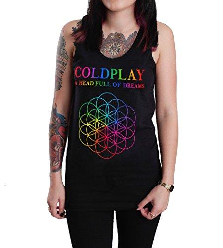 Coldplay A Head Full of Dreams Tank Top Shirt Black (Medium, Black)