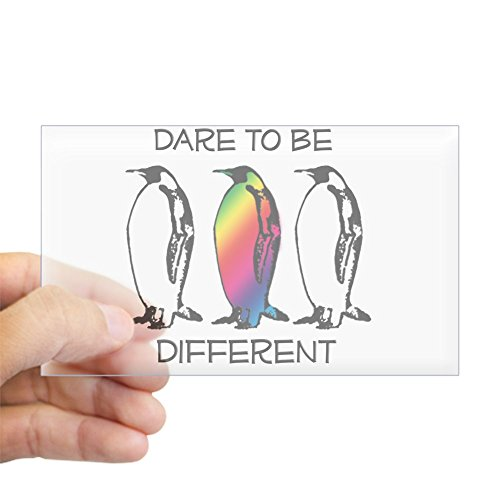 CafePress Dare to Be Different Rectangle Bumper Sticker Car Decal