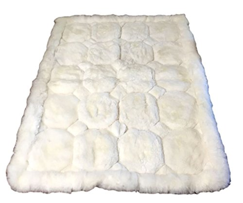 Luxurious Hypoallergenic 100% Alpaca Fur Rug Handmade in Peru (Large and Small) (3'8