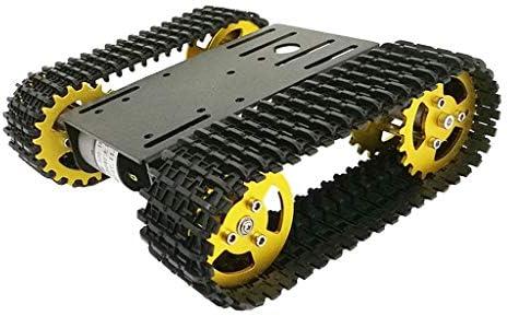 perfk T101 Intelligente Robotik Kesselwagen Chassis Kits Track Crawler inkl. 12V Motoren für Arduino Wissenschaft Lernspielzeug
