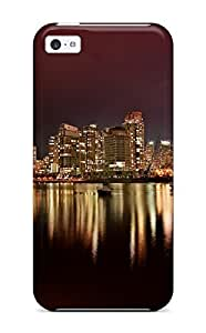 Iphone 5c Vancouver City Nights Print High Quality Tpu Gel Frame Case Cover