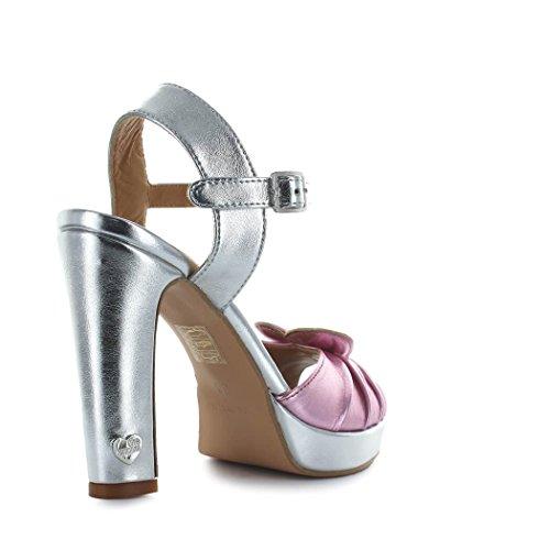 Femme Moschino Argent Rose Sandales Printemps Chaussures Hauts été 2018 Talons À Love qERnHgf6Hw