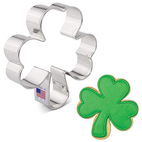 Ann Clark Cookie Cutters St. Patrick's Day Irish Shamrock Cookie Cutter, 3.75'